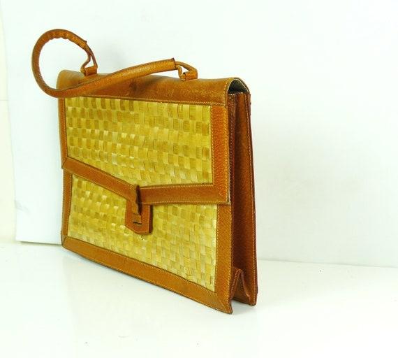 Straw bag rattan briefcase straw handbag straw clu