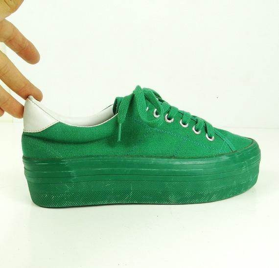 Converse style vegan shoes platform sneakers chunk
