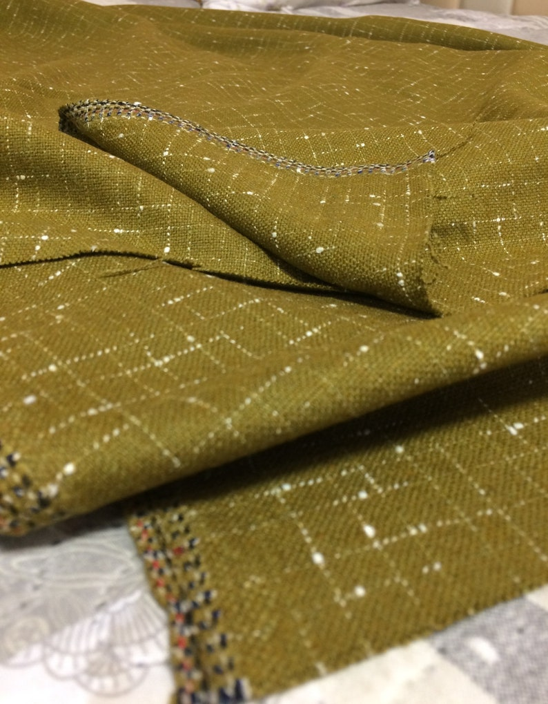85bc9b635 Vintage 1960s army green fabric pure wool fabric olive green fabric fashion  dress fabric Soviet vintage USSR NEW 1.84 yard