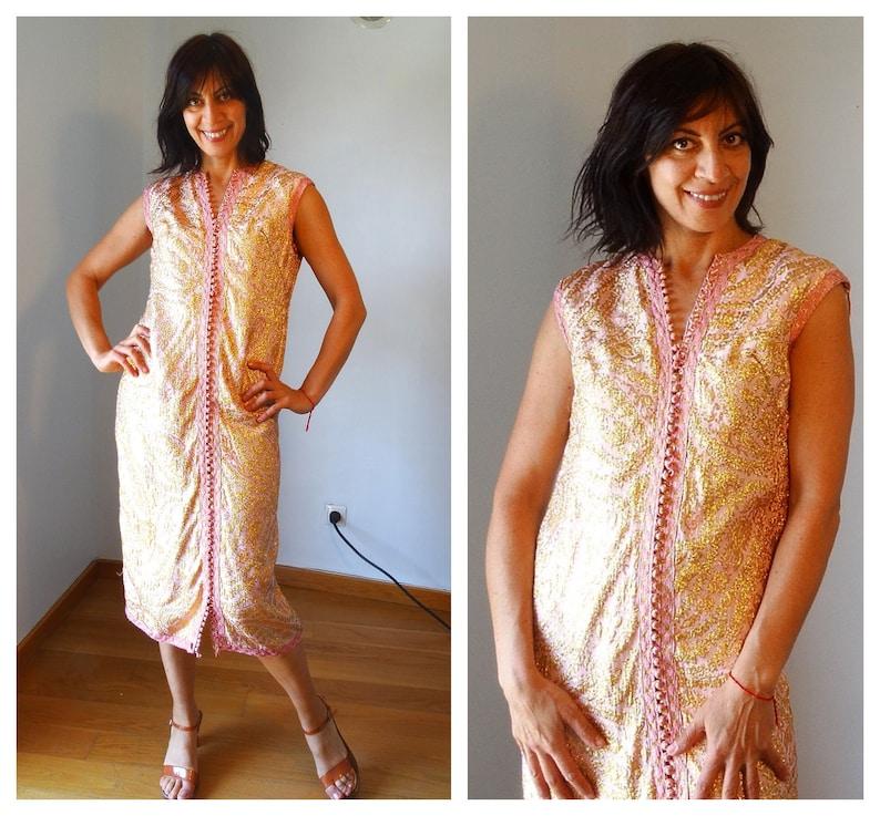 Kaftan dress midi Caftan 40s dress Plus size vintage boheme caftan dress silk kaftan Moroccan kaftan silk caftan Plus size kaftan