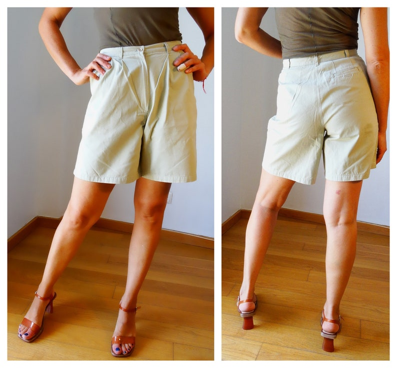 bc669db36a Culottes high waisted shorts cargo high waisted pants wide leg | Etsy