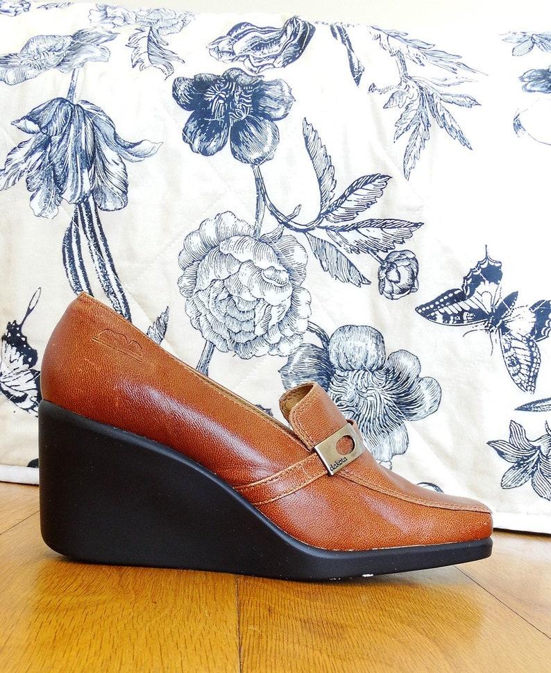 5199f6cdff6e 70s shoes 70s platforms 70s platform shoes size 35 leather
