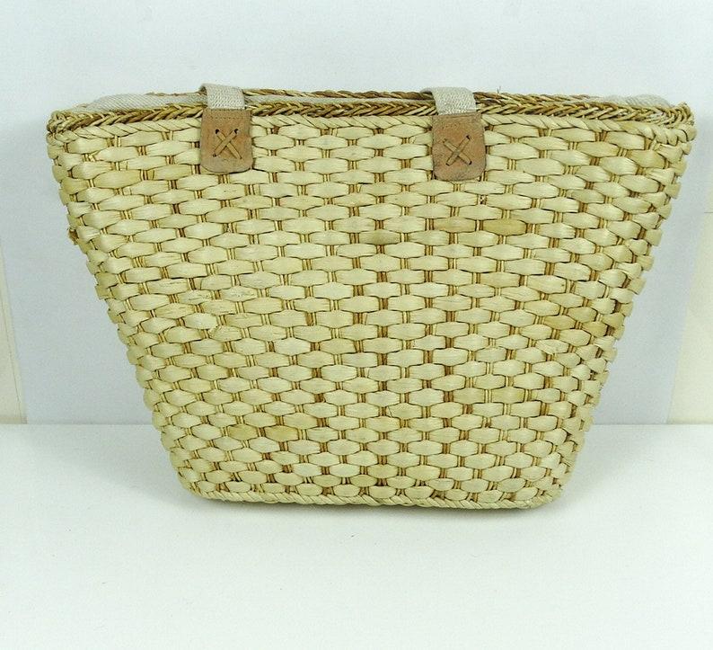 Large Straw bag straw tote bag straw beach bags basket bag market bags straw baskets picnic basket vintage