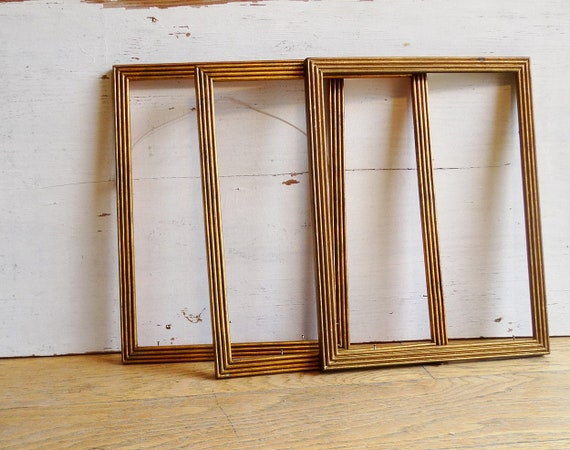 3 vintage picture frames 12 x 10 wooden frames photo frame wall art ...