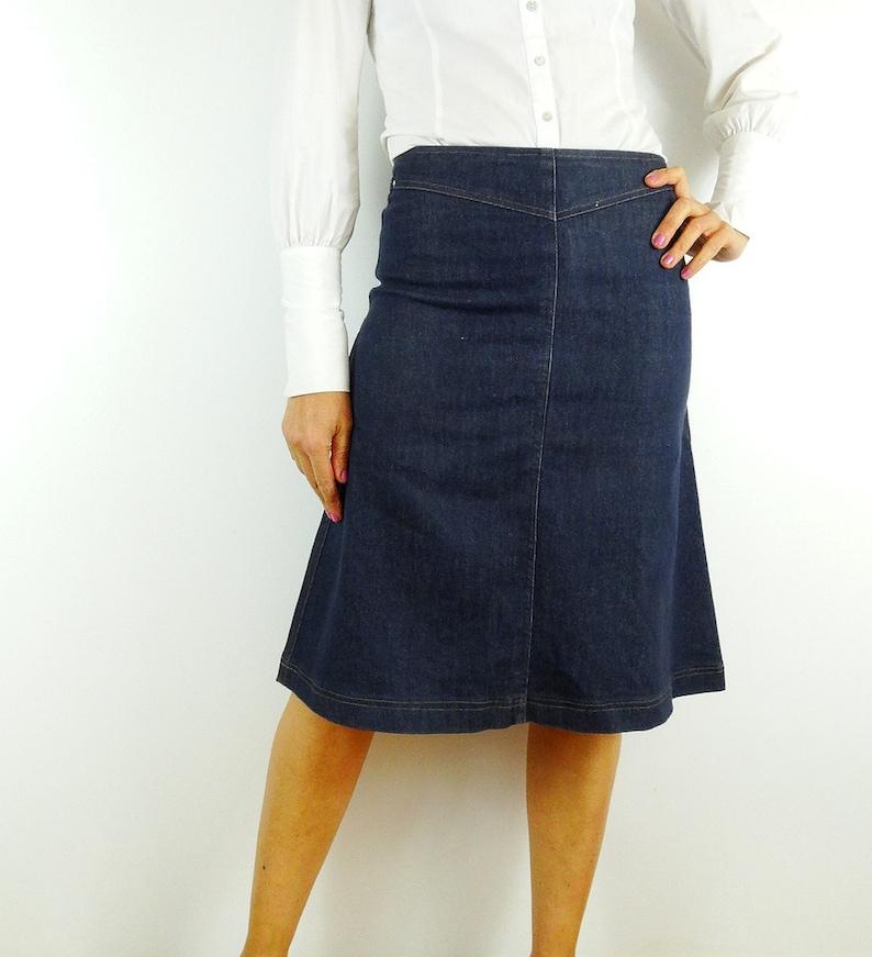 c0471a5406 Vintage 90s MOD skirt a-line denim skirt a line jean skirt | Etsy