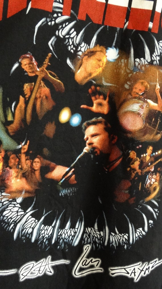 tour Metallica shirt shirt graphic t size tour Metallica 80s 90s 90 Vintage shirt t band shirt XL Metallica world Metallica t band xqX4CPXwv
