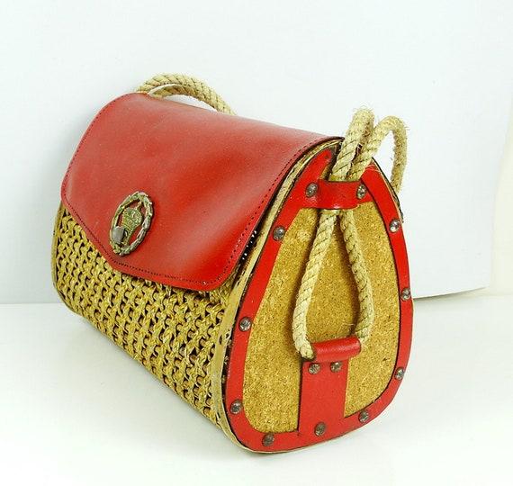 Straw bag rattan sisal bag straw handbag bamboo ba