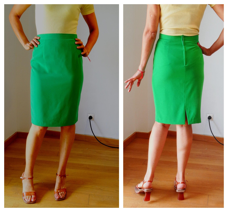 94ba8102c1 Pencil skirt fitted skirt bodycon tight skirt emerald green | Etsy