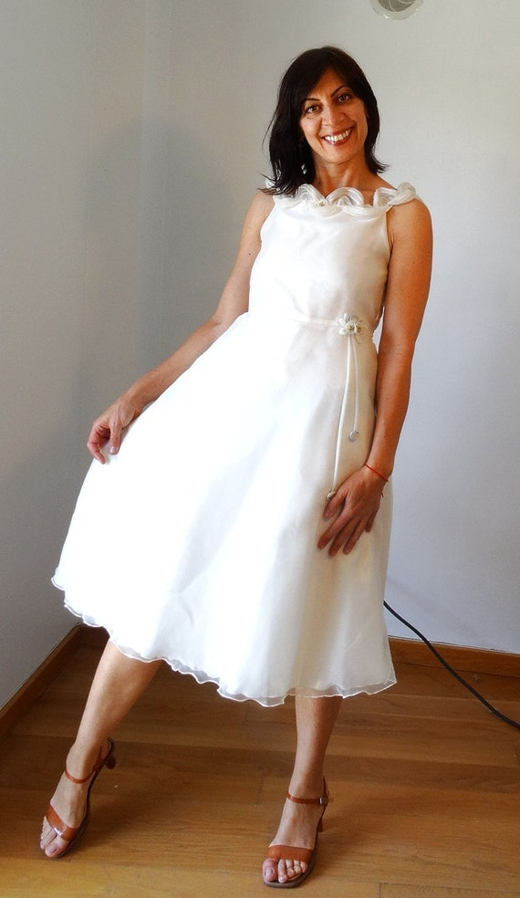dress dress size simple beach wedding dress tulle weddnig dress dress Short dress 70s prom tulle 80s 80s Small wedding wedding Vintage 7Sfq55w