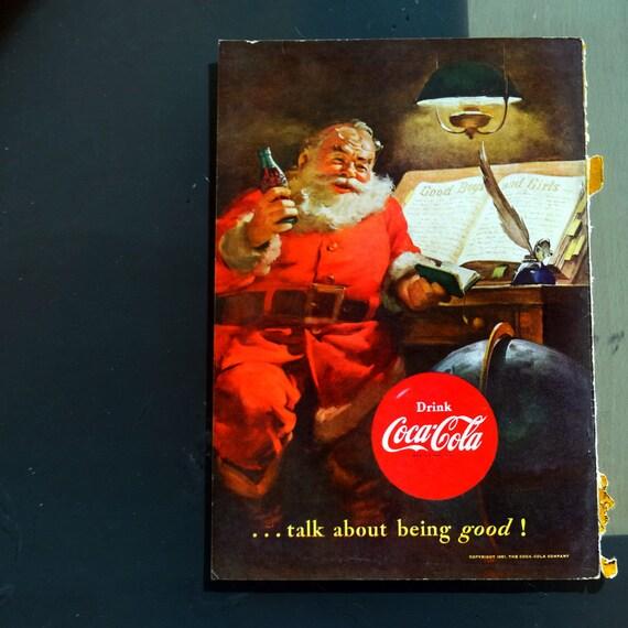 Coca Cola Werbung Weihnachten.Coca Cola Anzeige 50er Jahre 1951 Weihnachten Cola Werbung Coca Cola Santa Claus Abbildung Plakat Jahrgang Limo Anzeige