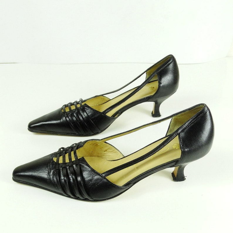 a12b20462c8 High heels size 5 1950s style shoes 50s kitten heel black