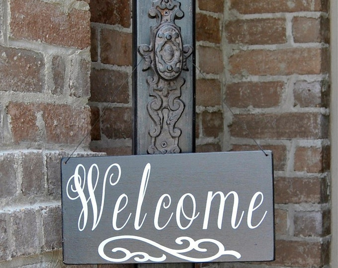 Porch Post, Welcome Sign Post