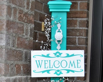 Decorative Porch Post, Decorative Welcome Sign Post