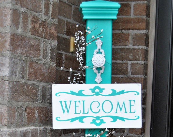 Decorative Porch Post, Decorative Welcome Sign Post