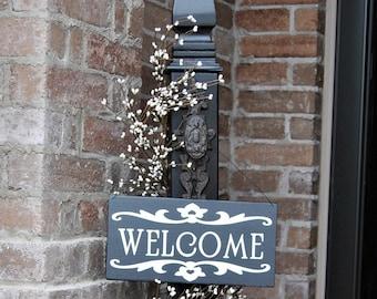 Decorative Porch Post, Decorative Welcome Sign