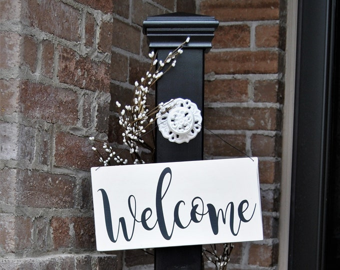 Decorative Welcome Sign, Decorative Welcome Porch Post