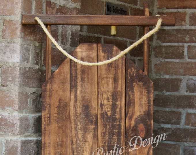 Decorative Wood Porch Sled, Decorative Porch Sleigh