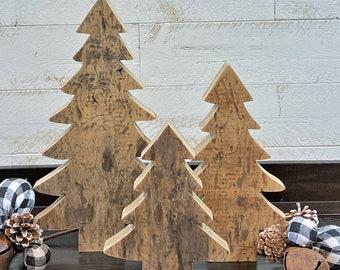 Rustic Brnwood Christmas Trees