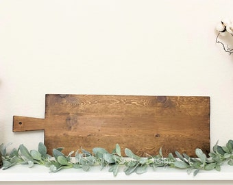 Large European Rectangle Bread Board,ReClaimed, Repurposed Wood, Vintage European Charcuterie Board, Cheese Board, Vineyard