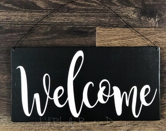 Welcome Sign, Porch Decor, Entry Sign,Porch Post Sign,Door Sign