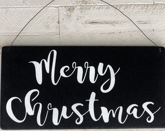 Merry Christmas Hanging Sign,Porch Post Sign