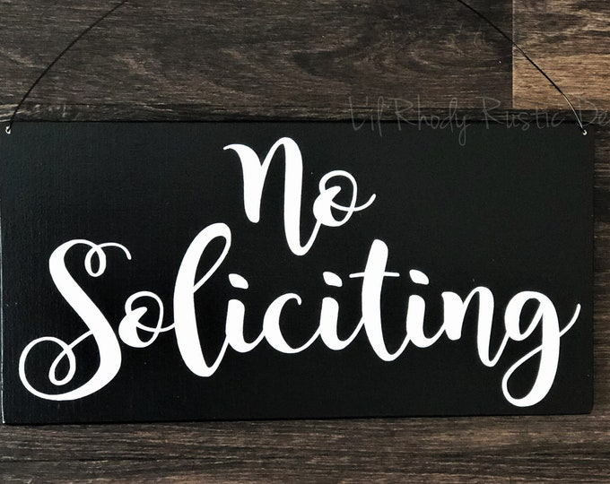No Soliciting Sign, Entry Sign,Porch Post Sign,Door Sign