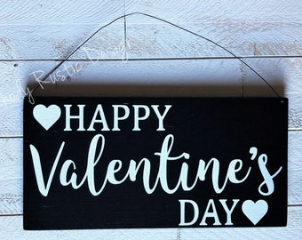 Valentine's Day Hanging Sign, Welcome Sign, Porch Decor, Entry Sign,Porch Post Sign,Door Sign, Holiday Sign