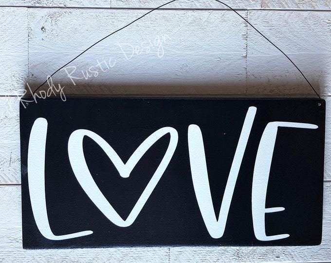 LOVE Hanging Sign,Porch Post Sign