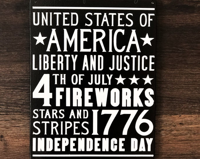 Independence Day, 4th of July Sign, Porch Decor, Entry Sign,Porch Post Sign,Door Sign