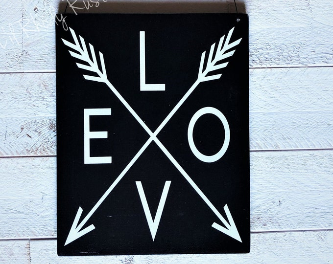 Love Arrow Welcome Sign, Porch Post Sign