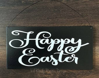 Happy Easter Sign, Porch Decor, Entry Sign,Porch Post Sign,Door Sign