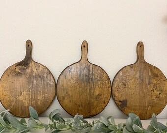 Small European Circular Breadboard, Display Board, Charcuterie Board, Repurposed, Reclaimed Wood, Vintage Wood, Cheese Board
