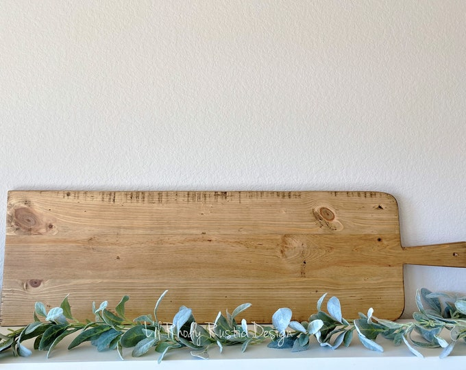 Extra Large European Rectangle Bread Board,ReClaimed, Repurposed Wood, Vintage European Charcuterie Board, Cheese Board, Vineyard