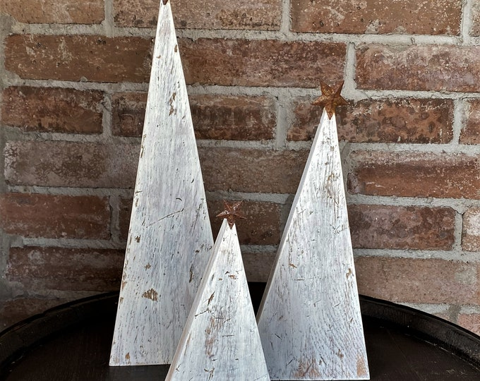 Rustic Wood Christmas Trees