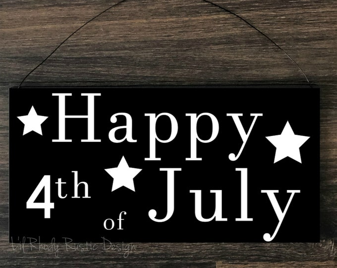 Happy 4th of July Sign, Porch Post Sign
