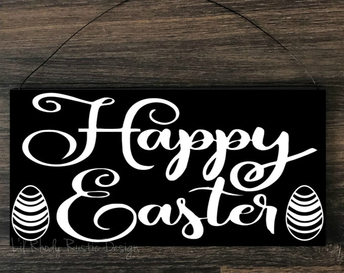 Happy Easter Sign,  Porch Post Sign