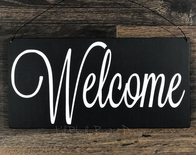 Welcome Sign, Porch Post Sign, Door Sign