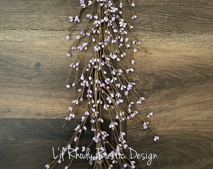 Lilac Purple Pip  Berry Garland