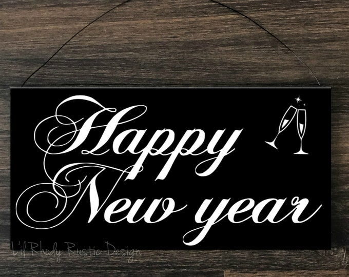 Happy New Year Sign,  Porch Post Sign