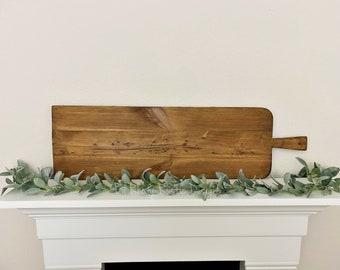 Extra Large European Rectangle Bread Board,ReClaimed, Repurposed Wood, Vintage European Charcuterie Board, Cheese Board, Vineyard
