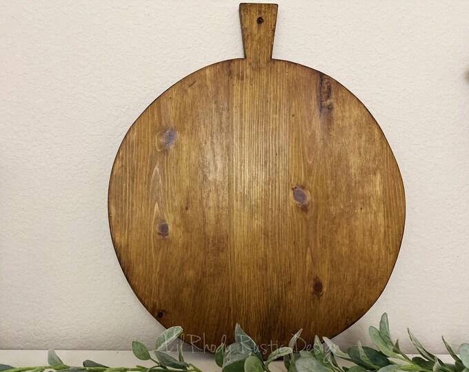Large Circular Breadboard, Display Board, Charcuterie Board, Repurposed, Reclaimed Wood, Vintage Wood Cheese Board