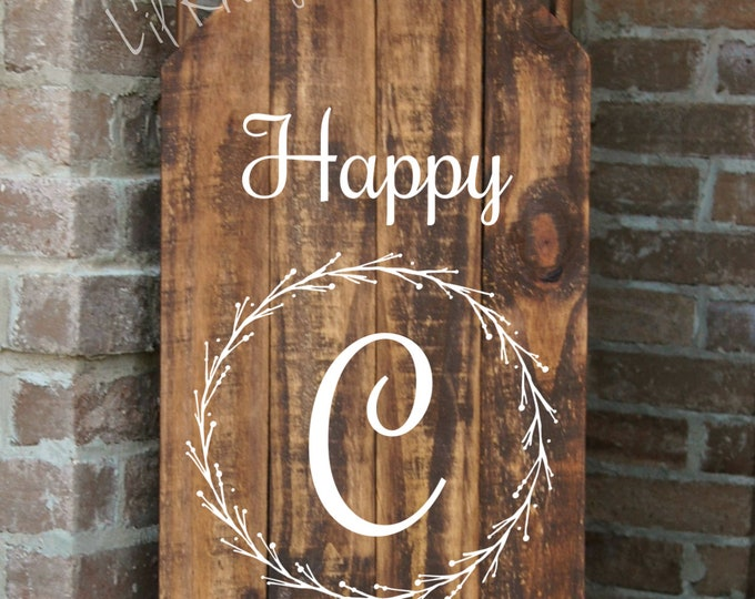 Decorative Wood Porch Sled, Decorative Porch Sleigh, Monogrammed Sled