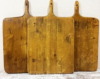 Medium European Square Breadboard, Display Board, Charcuterie Board, Repurposed, Reclaimed Wood, Vintage Wood, Cheese Board