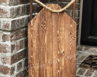 Decorative Wood Porch Sled, Decorative Porch Sleigh