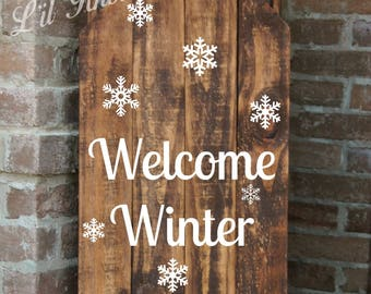 Sled, Decorative Porch Sled, Decorative Porch Sleigh, Welcome Winter