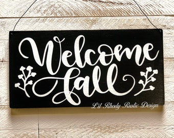 Welcome Fall Hanging Sign