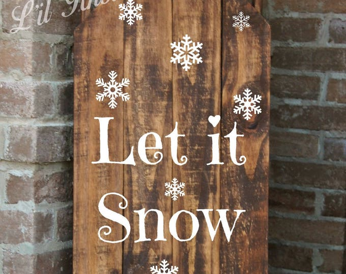 Sled, Decorative Porch Sled, Decorative Porch Sleigh, Let it Snow