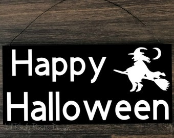 Happy Halloween Sign,  Porch Post Sign