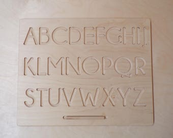 Wooden board for learning to write (front / back)