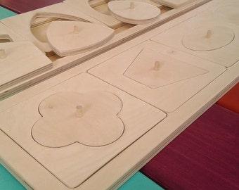 Formes à dessin Montessori / Shape for drawing